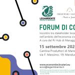 Quarto Forum di Comunità del Ri-Hub Maruggio per il progetto ECCO, Economie Circolari di COmunità.Legambiente e Ministero del Lavoro e delle Politiche sociali insieme per un progetto dedicato a diffondere l'economia circolare.