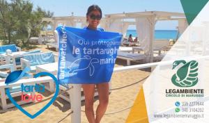 """Campomarino di Maruggio protagonista attraverso il progetto nazionale """"Tartalove"""" di Legambiente, con l'iniziativa """"Lidi amici delle tartarughe marine""""."""